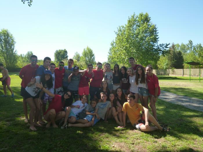 Grupo niños campamento de Salamanca