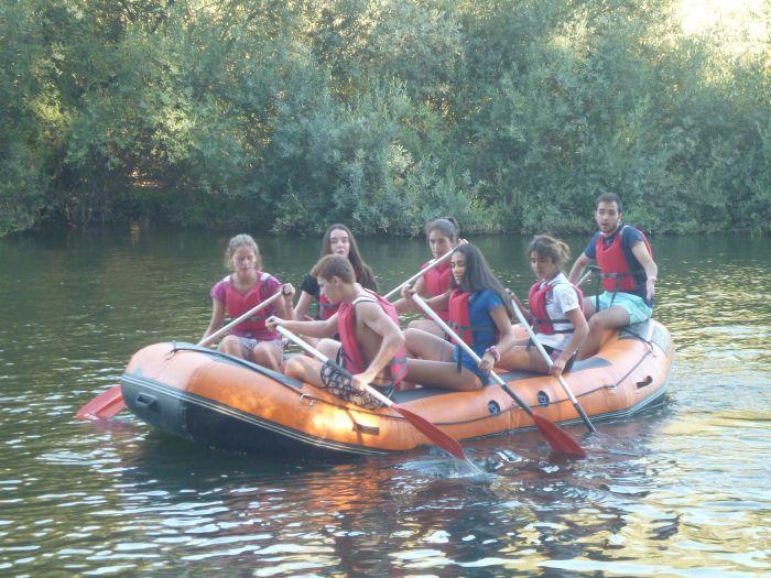 Rafting niños campamentos
