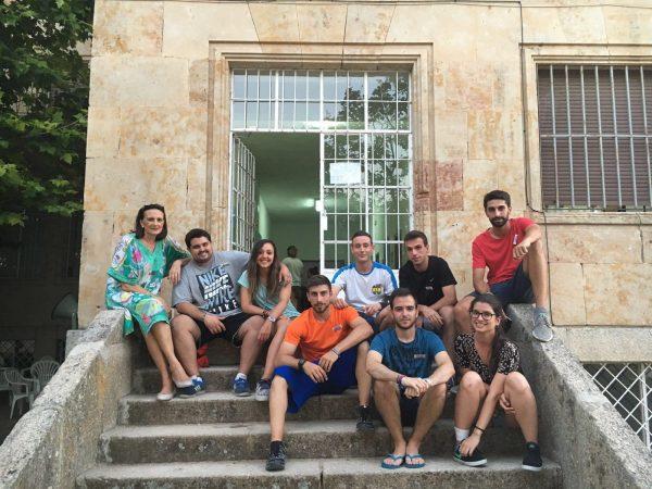 monitores del campamento residencial Salamanca con inglés o francés