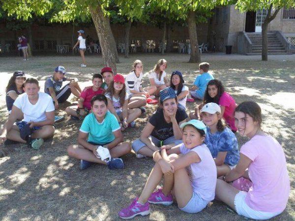 acampados del campamento de Salamanca