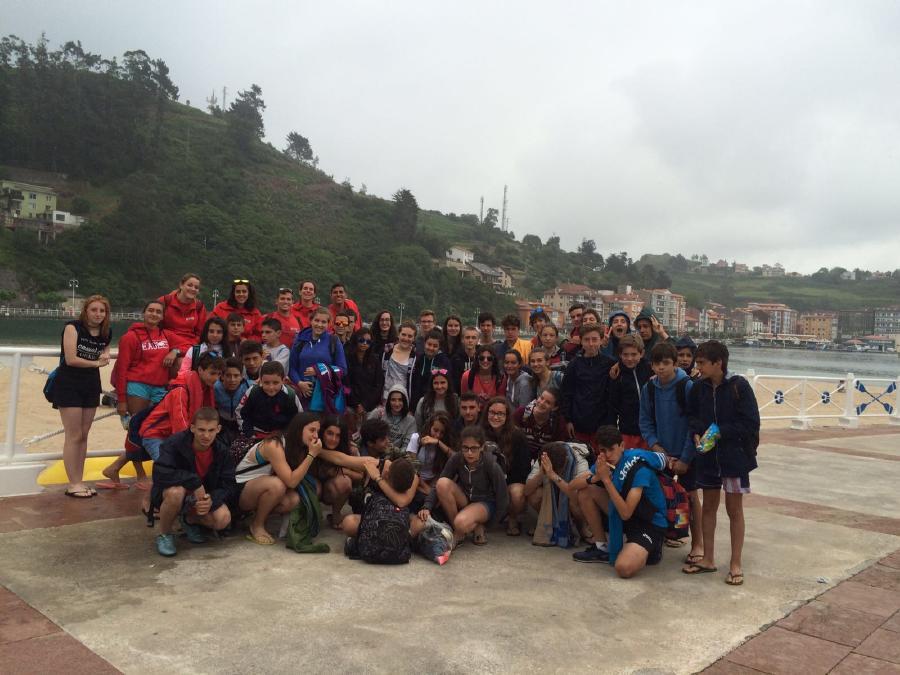 Día de excursión del Campamento de multiaventura