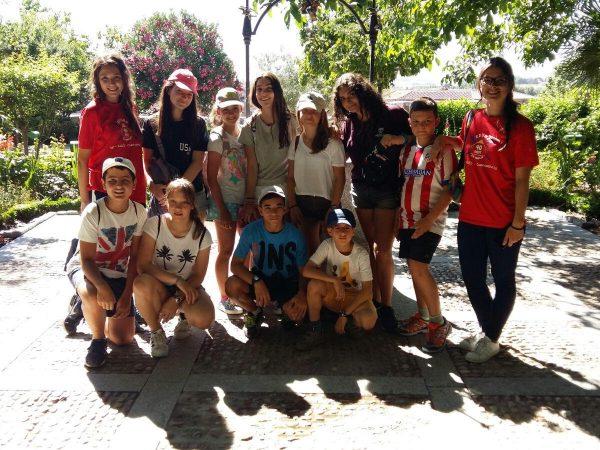 Excursión campamento Salamanca con francés e inglés