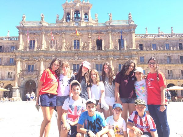 Excursión campamento Salamanca con francés