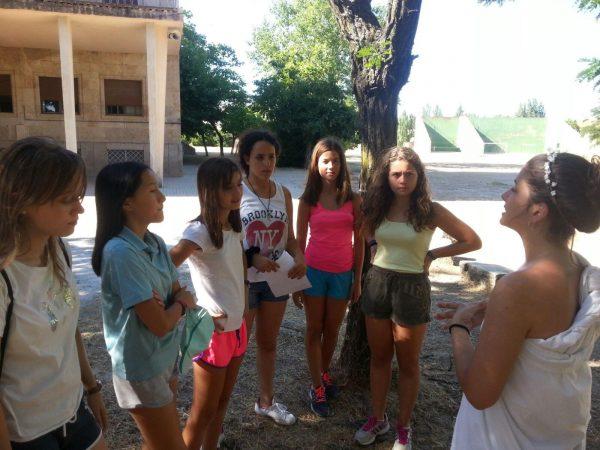 Pruebas del día tematico del campamento con idiomas en Salamanca