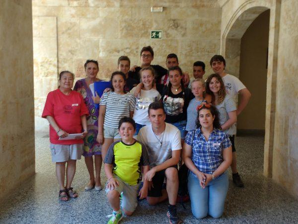 Coloquio con los alumnos del curso intensivo de inglés