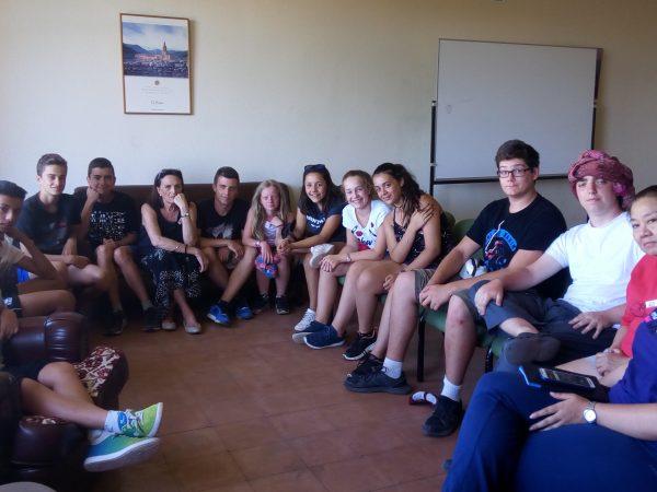 Coloquio con los participantes del campamento con idiomas de Salamanca