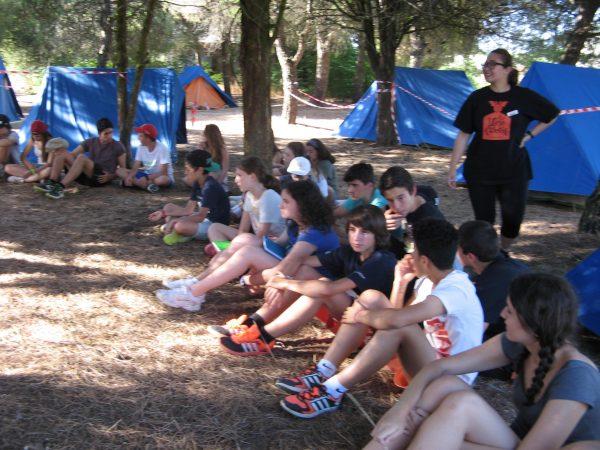 Noche de acampamda en el campamento con inglés de Salamanca