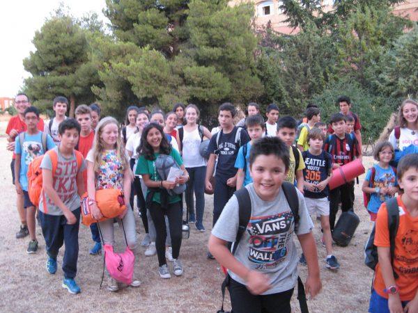 Llegada del campamento con inglés o frances a Salamanca