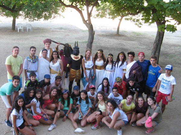 Día tematico en el campamento con inglés o francés de Salamanca