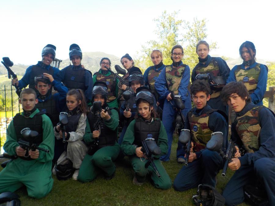 Paintball en el Campamento de Asturias