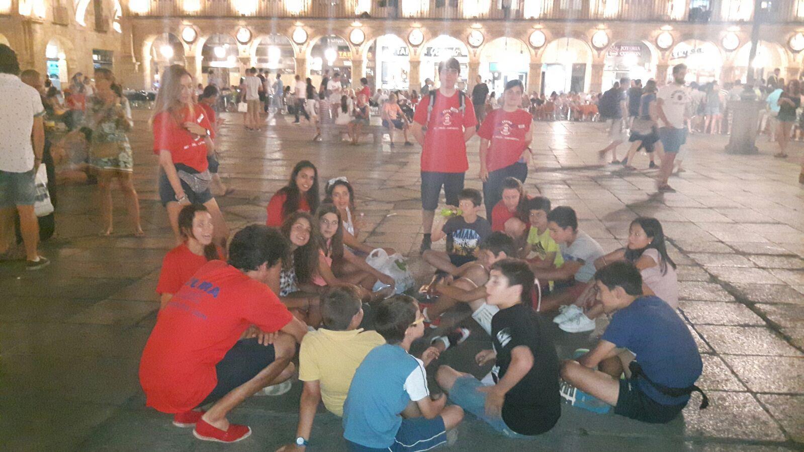 Campamento Residencial Salamanca con idiomas. Ecursión nocturna a Salamanca