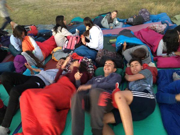 Vivac en la Sierra de Bejar de los alumnos del curso intensivo de inglés