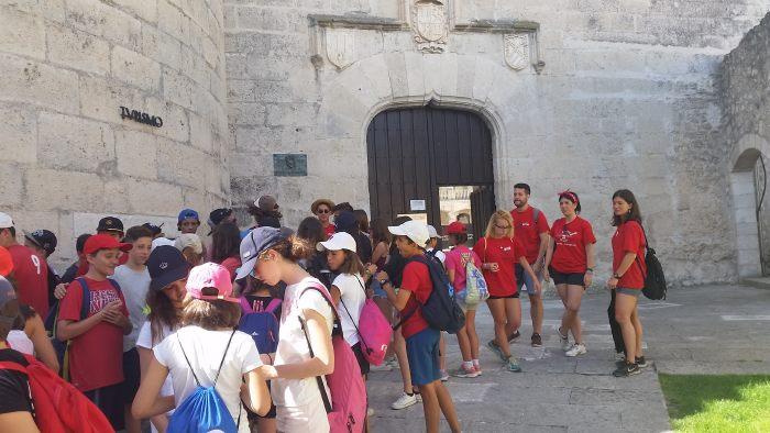 Excursión a cuellar del campamento con idiomas La Casona del Prado