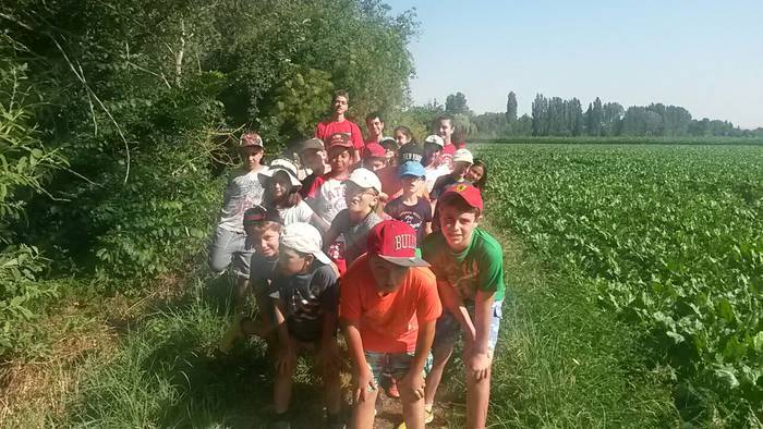 Dia de piragua para el campamento residencial Salamanca con inglés