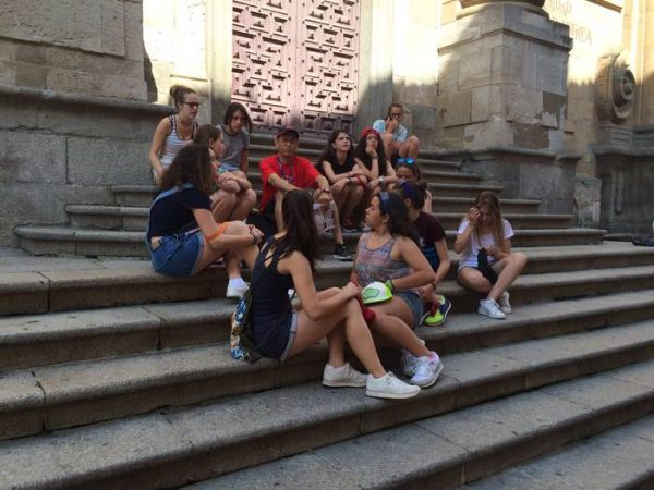 Excursón a Salamanca de los más peques del campamento con inglés de Salamanca