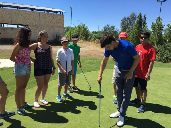 Excursión a golf del curso intensivo de inglés de Salamanca
