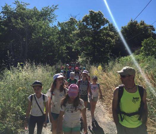 Ruta de sendersmo del grupo del curso intensivo de inglés en salamanca