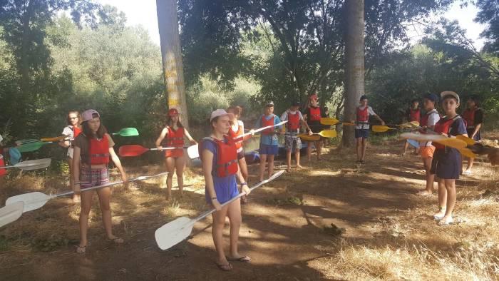 excursión a rio tomres del campametno con idiomas de salamanca