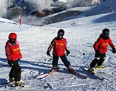 curso esqui completo Saint-Lary