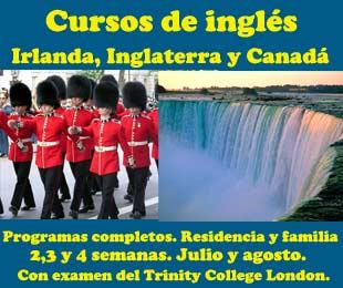 Cursos de inglés en el extranjero Irlanda Inglaterra y Canadá