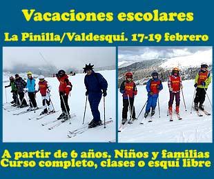 curso de ski Sierra Madrid Valdesqui La Pinilla febrero vacaciones escolares