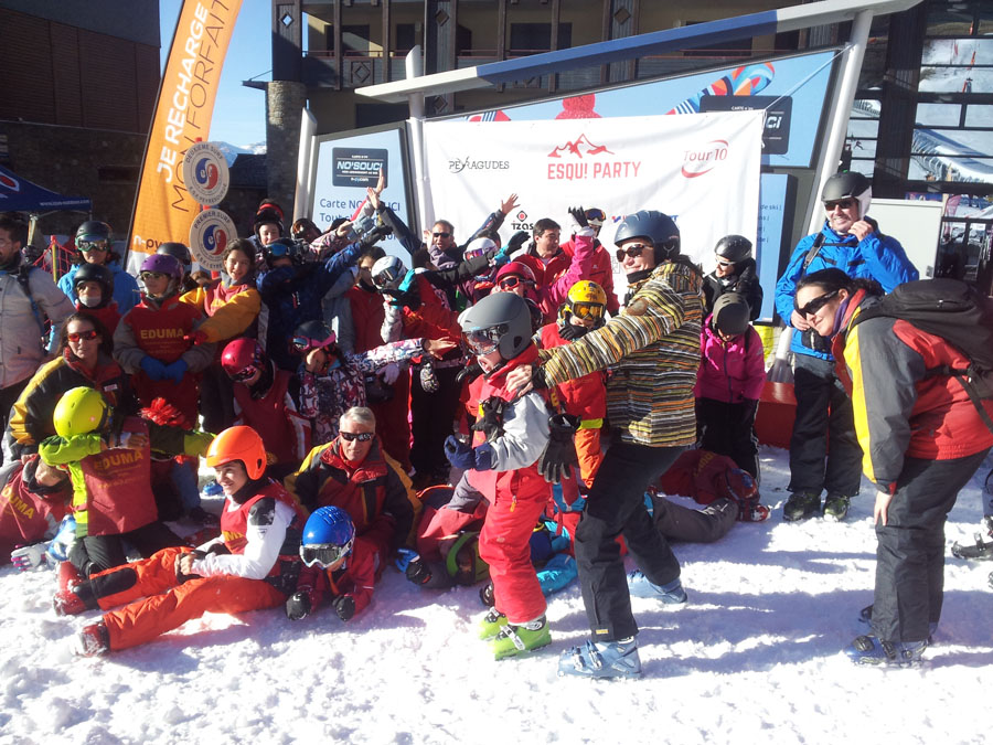 Curso de esquí para familias