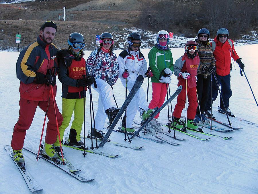 Clases de esquí y monitor todo el día