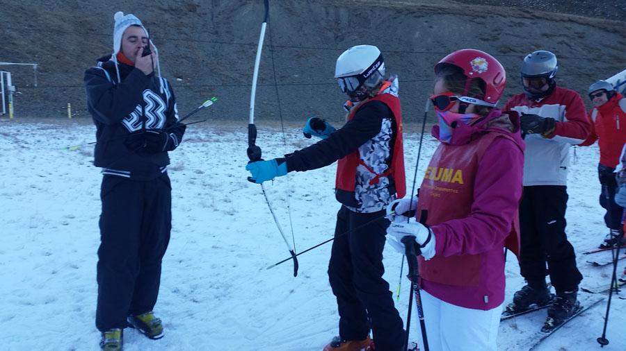 Gymkana en el curso de ski en peyragudes