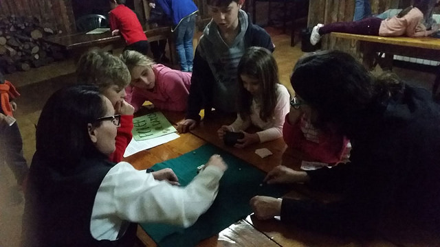 Casino despues de las clases de esqui de vacaciones escolares