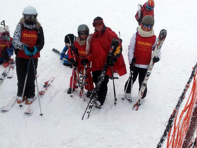 clases de esqui por niveles en el curso de esqui de los sabados