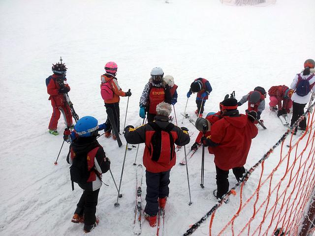 aprender a esquiar en el curso de esqui los sabados.
