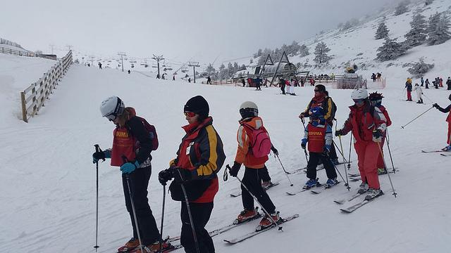 Cursillo de esquí, sabados en Valdesqui