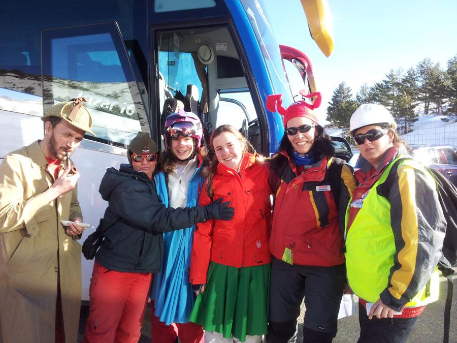Carnavales en el cursillo de esqui de los sábados