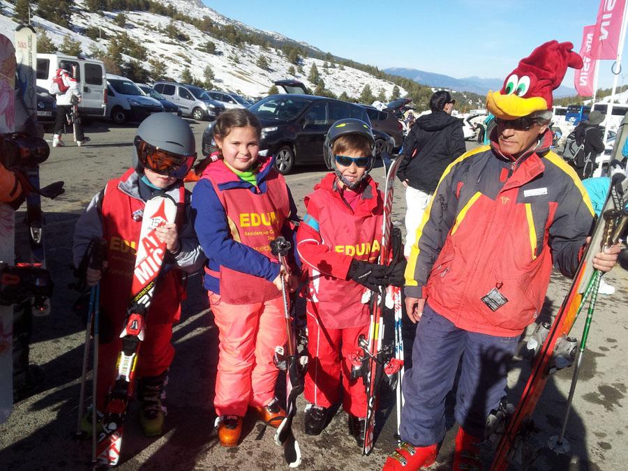 Carnavales en el cursillo de esqui de los sábados en Valdesqui