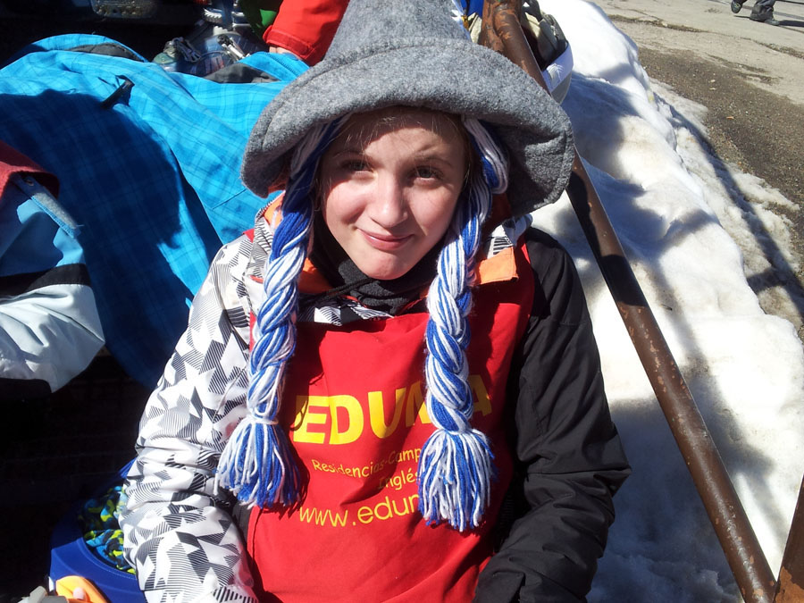 Carnavales en el cursillo de esqui de los sábados en la sierra de madrid