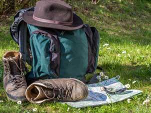 mochila de acampada