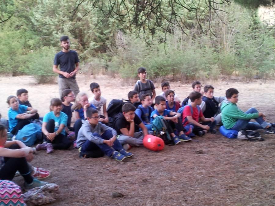 Acampada para niños campamento