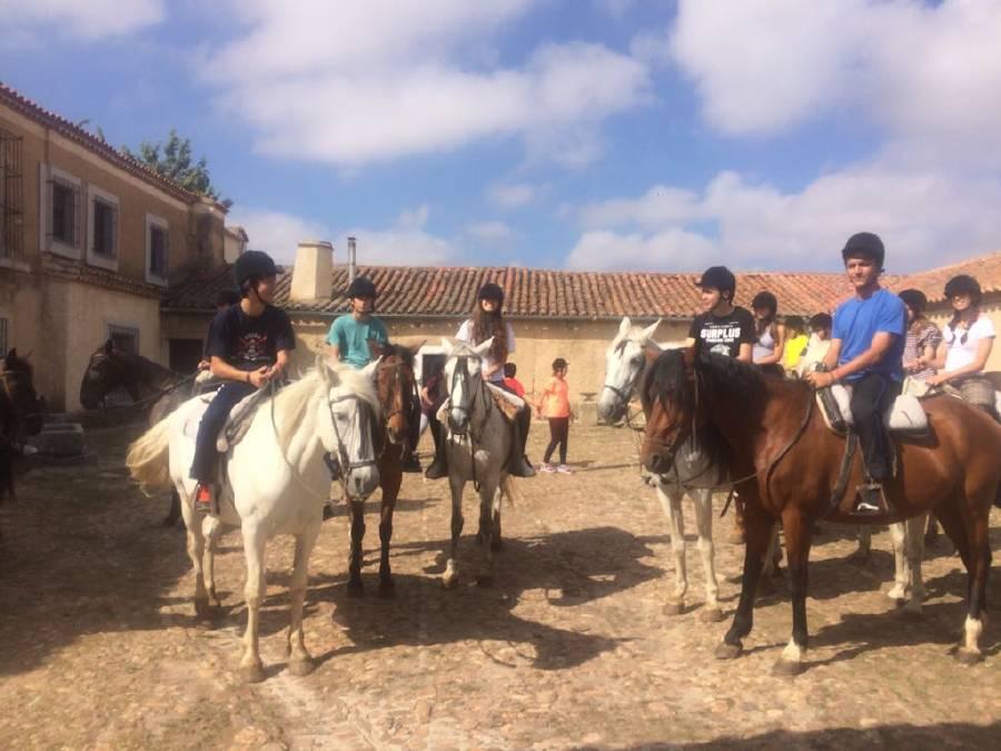 Equitación niños campamento inglés o francés
