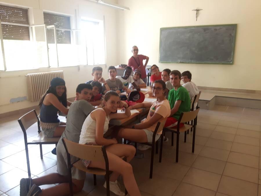 Grupo niños Campamento con idioma Salamanca