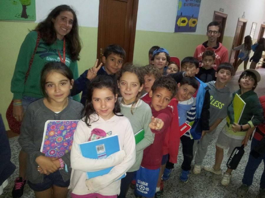 Grupo niños campamento Salamanca