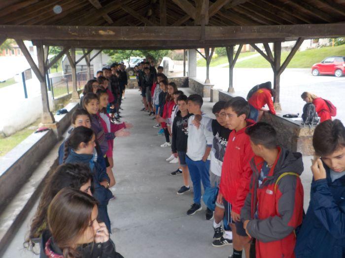 Grupo niños Colonia de verano Asturias