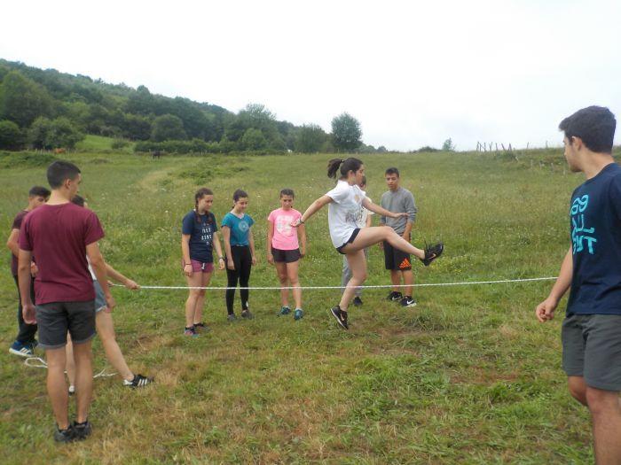Juegos campamento Multiaventura en Asturias