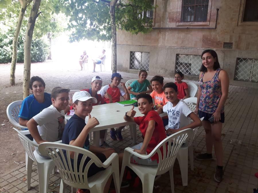 Grupo niños campamento de francés e inglés Eduma Salamanca 2017