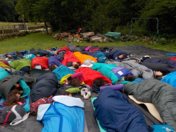 Vivac campamento niños