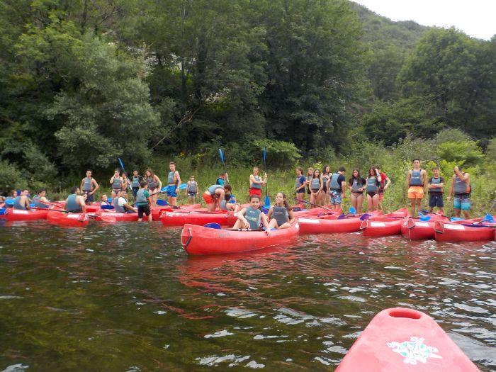 Piragua Ribadesella campamento