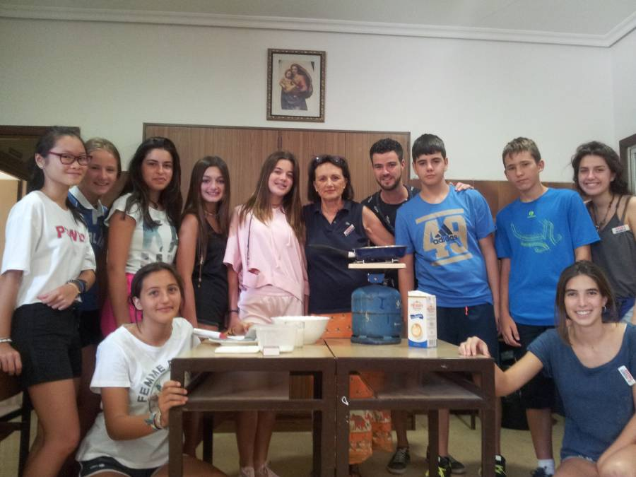Taller cocina Campamento Salamanca inglés o francés