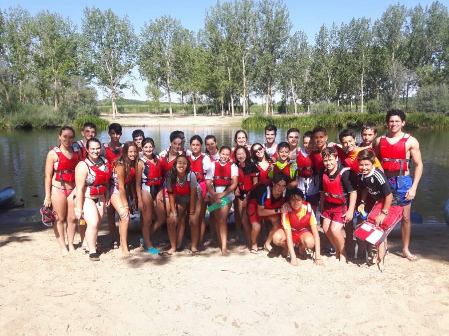 Piragua Campamento Salamanca inglés o francés