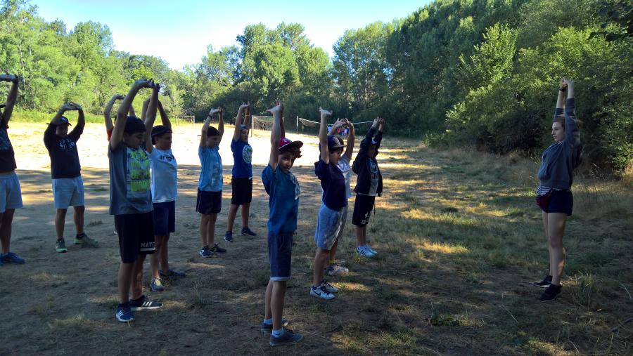 Niños campamento de verano