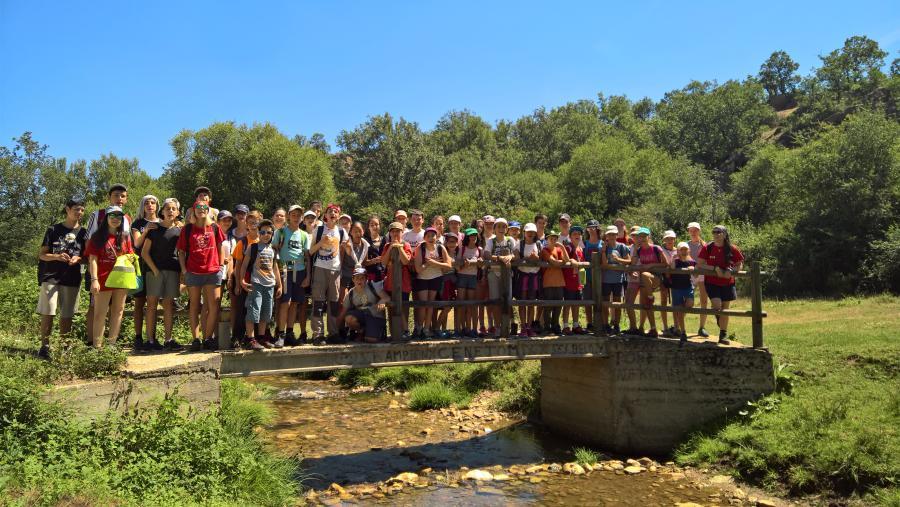 excursion senderismo niños campamento