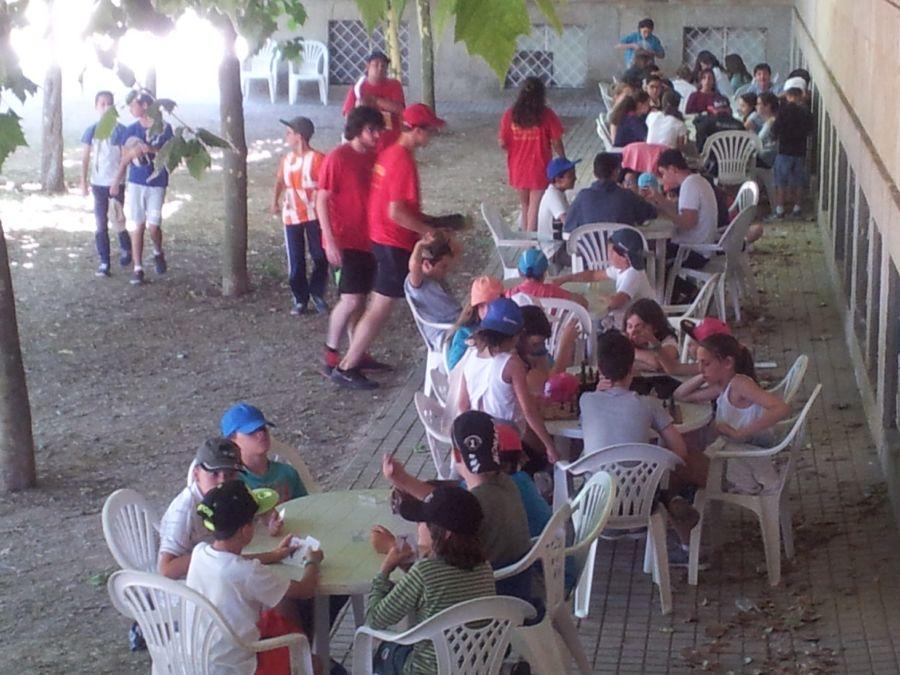 Grupo niños clases colonia de verano